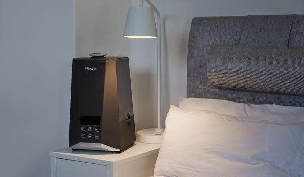 Nawilżacz powietrza WHU600 w sypialni
