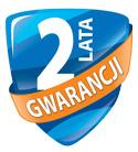 2-letnia gwarancja z możliwością przedłużenia